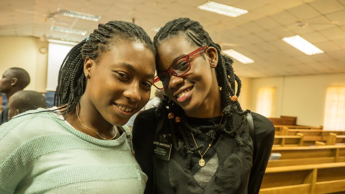 Sister missionaries serving in Kenya