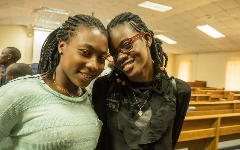 Sister missionaries serving in Nairobi, Kenya