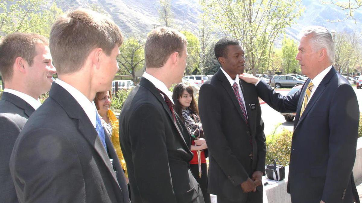 Elder Uchtdoft and Missionaries at MTC