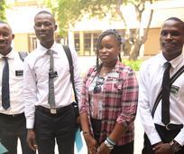 Elders Pepe Aime Victor Dore, Emile Junior Dore ( des frères), Charles-Alain Kpogomou et Soeur Rachel Kpogomou (frère and soeur)