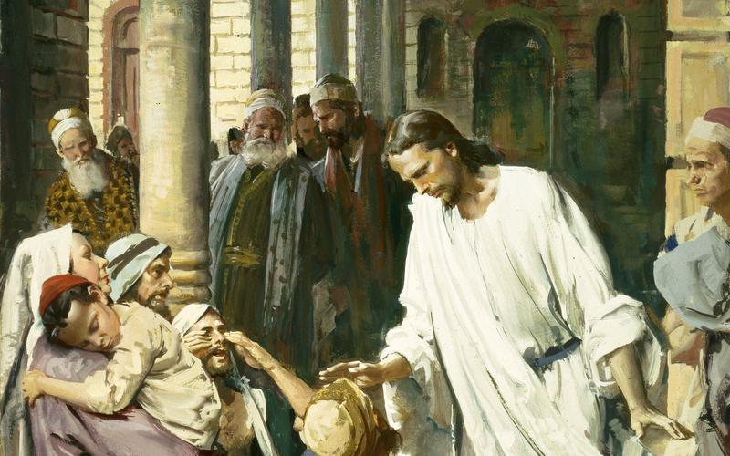 Հիսուս Քրիստոսը բուժում է կույրին