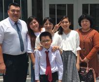 蔡羽豔與家人