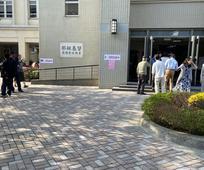 鳥松教堂投票民眾