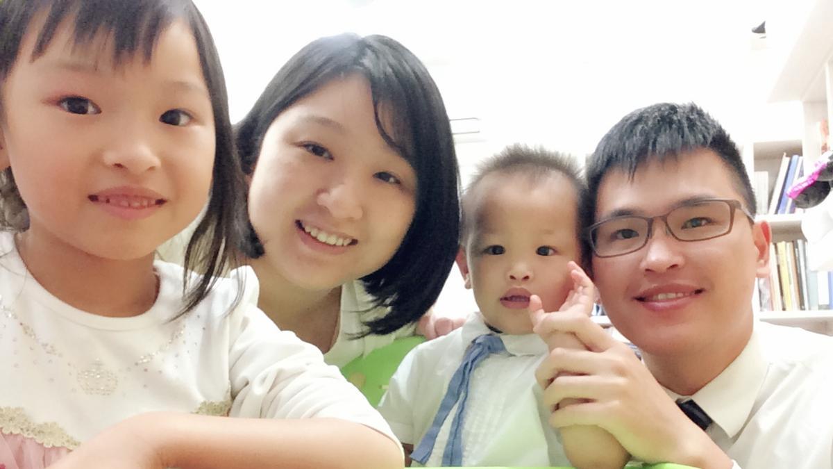 林世婷與先生孩子