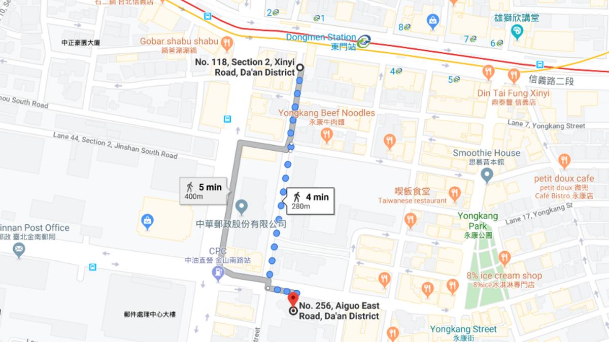 Taipei Temple Map