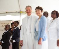 Elder and sister Bednar, Haiti Temple