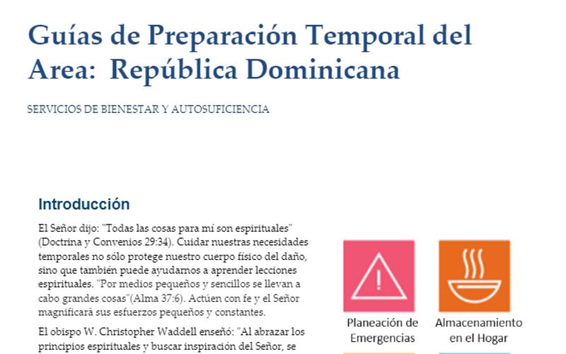 Guías de Preparación Temporal del Área: República Dominicana
