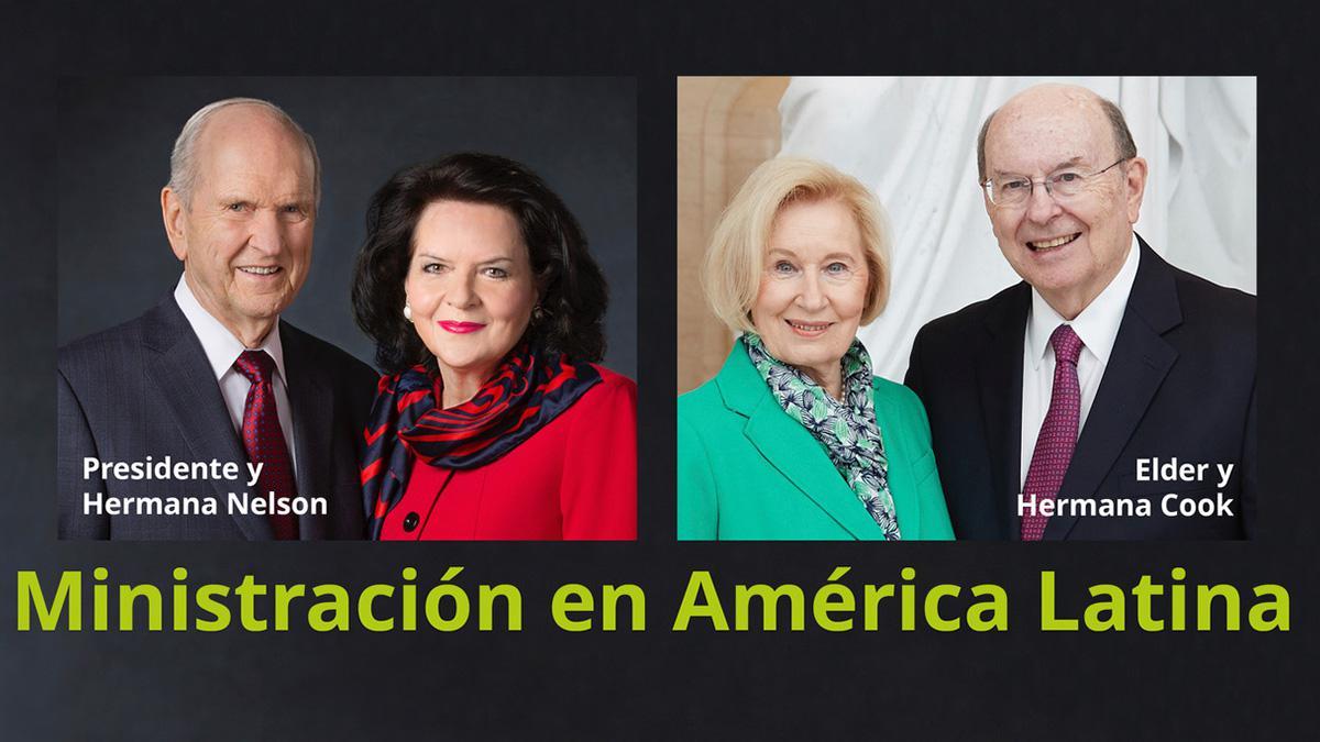 Presidente y hermana Nelson, Elder y hermana Cook