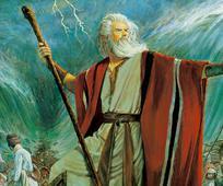 Móses leiddi Ísraelsþjóð í gegnum Rauðahafið