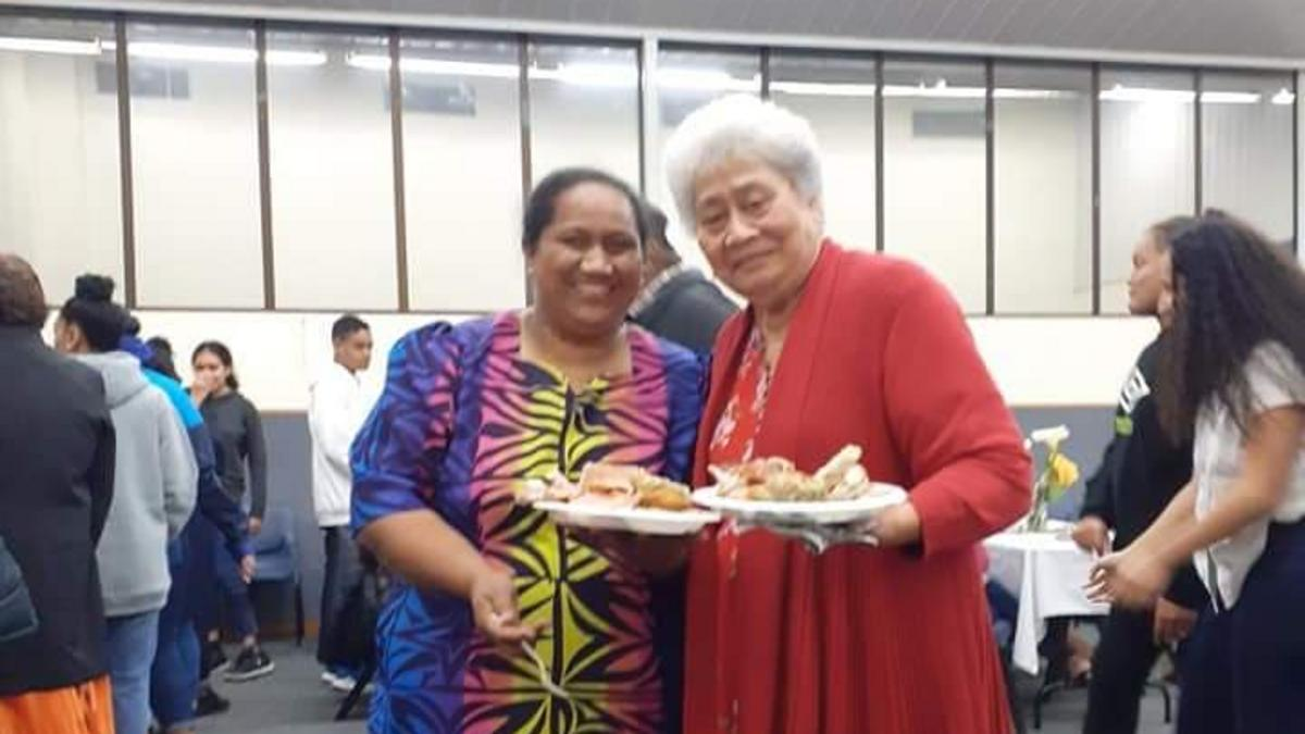 Sister Ita Futialo Galu (left) and her Relief Society sister, Losa Purcell