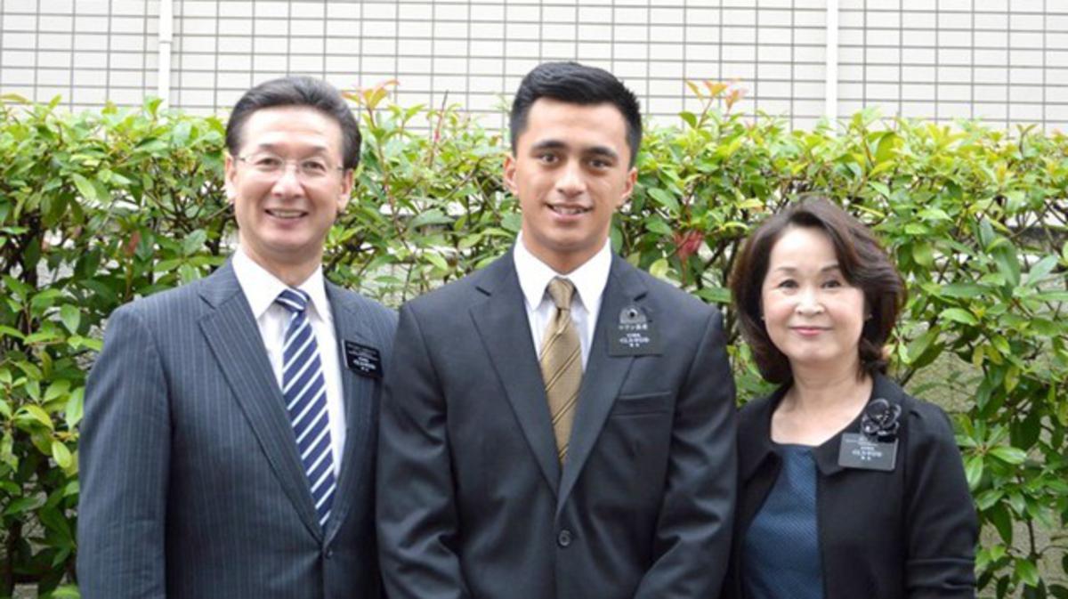 Elder Cowan with President and Sister Yamashita