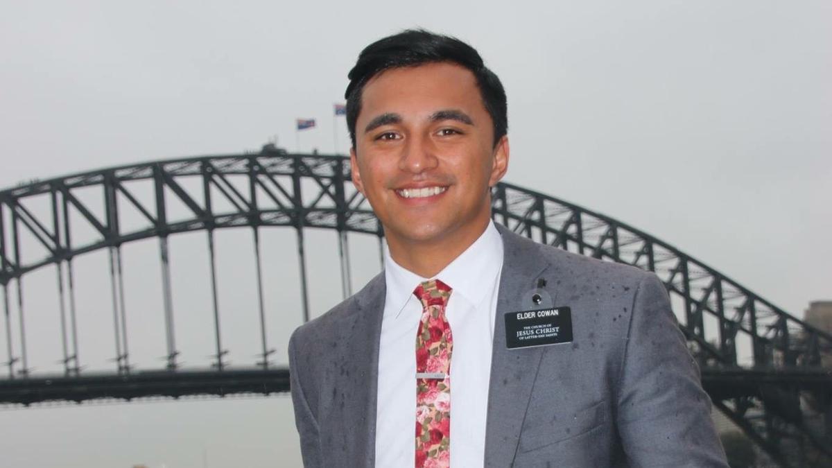 Elder Cowan on his mission in Sydney, Australia