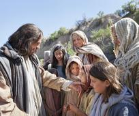 Jesús talar við barn