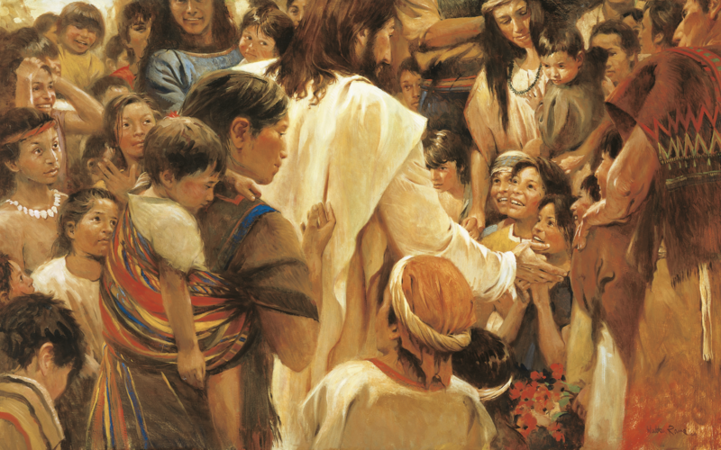 Jesus Christ teaching the children