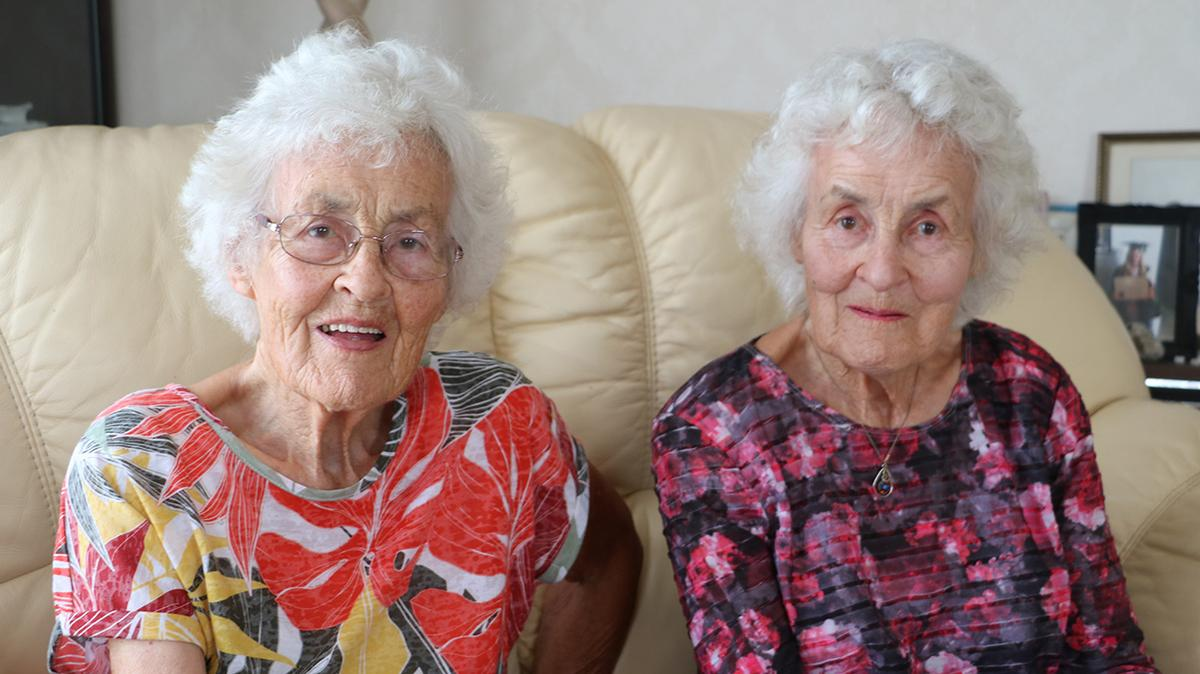 91-year-old identical twins Jacqueline Dallas and Gillian McLean