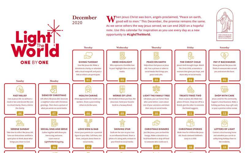 Light The World Calendar