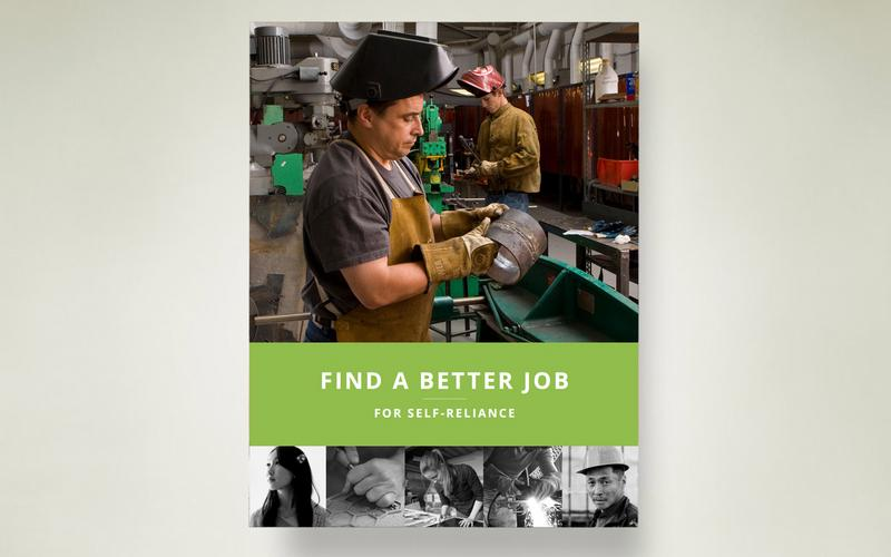 Find a better job booklet cover