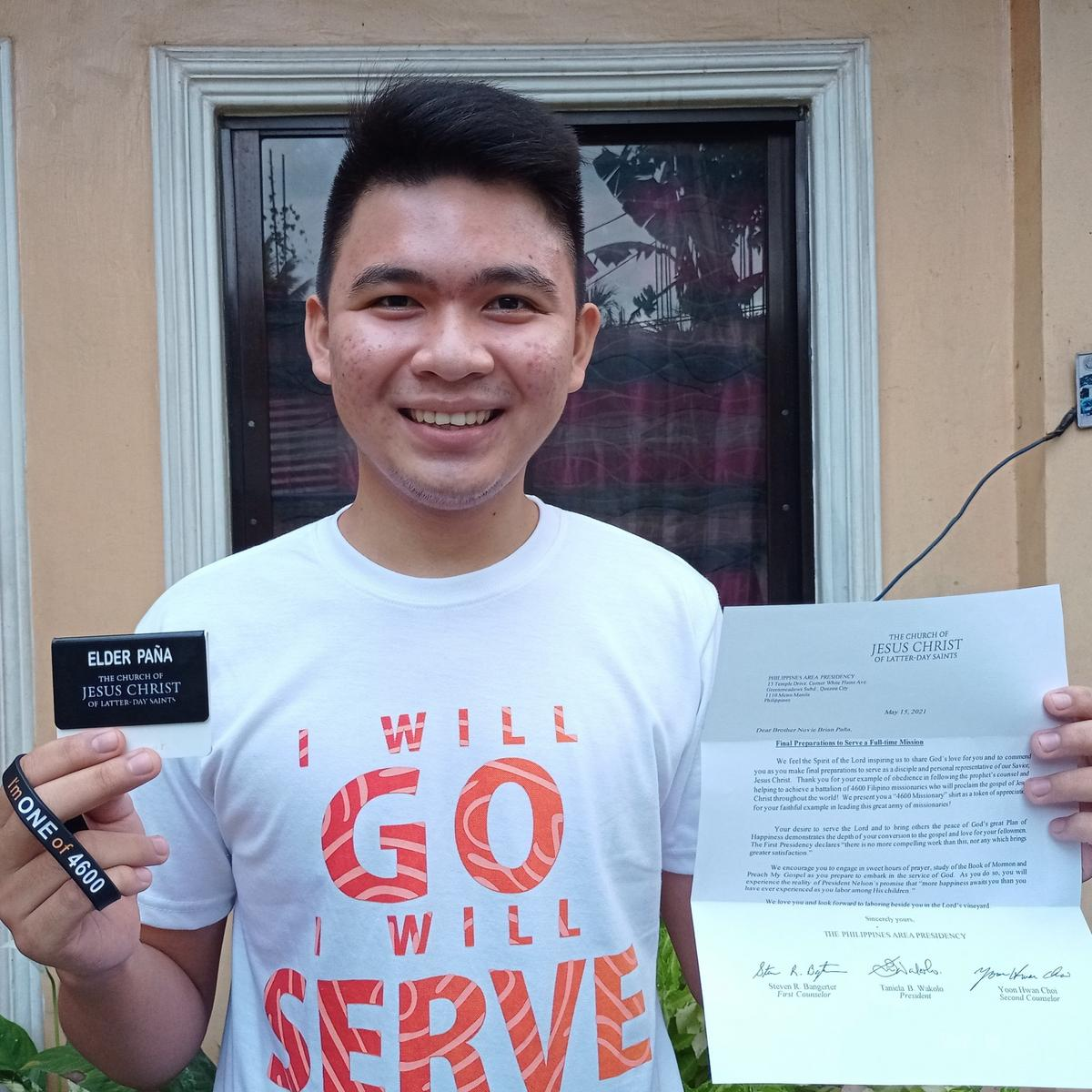 'I am Elder Paña called to serve in the Philippines Angeles Mission. I will go, I will serve. I am one of 4600.'