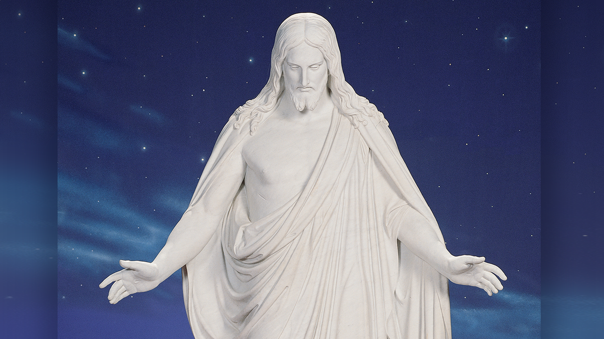 A statue of Jesus Christ, the reason we celebrate Christmas.