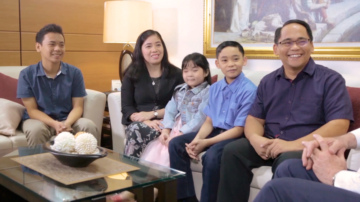 The Tolentino Family, members of the Church of Jesus Christ in the Philippines.