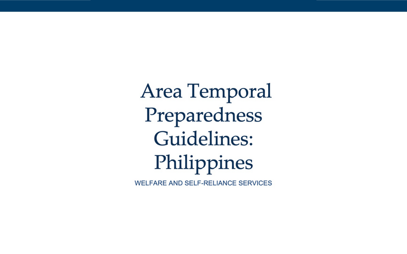 Church Launches Member's Guide for Temporal Preparedness in the Philippines