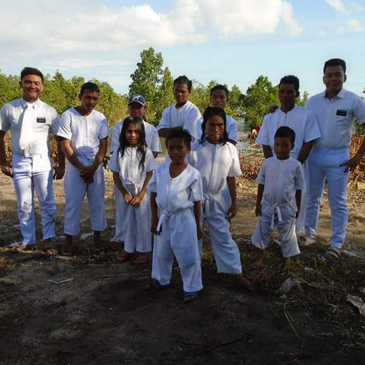 Sixteen souls into the waters of baptism in December 2019.