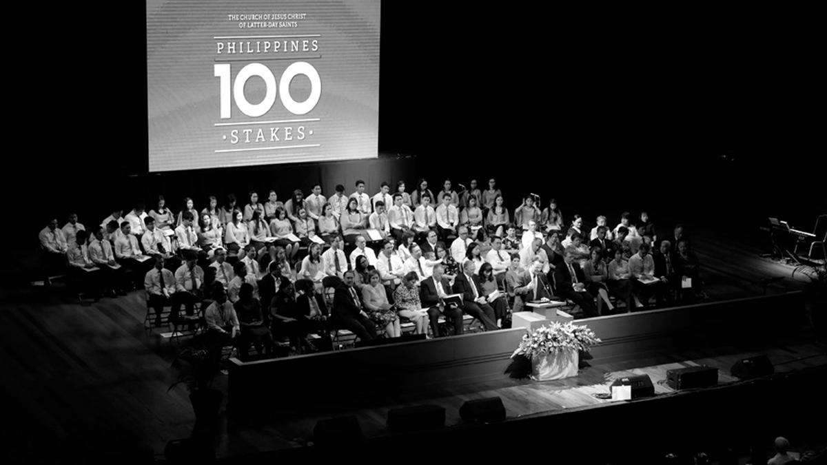 Filipino Latter-day Saints rejoiced during the creation of the Philippines' 100th stake in 2017.