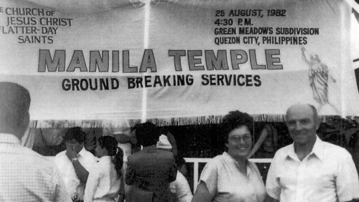 The groundbreaking of the Manila Philippines Temple in 1982 was graced by the presence of President Gordon B. Hinckley of the First Presidency.