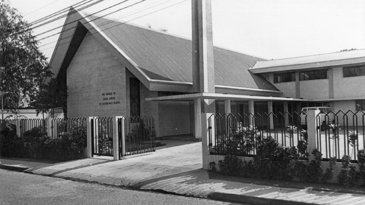 Constructed in 1970, the Quezon City chapel was one of the first Church meetinghouses in the country.