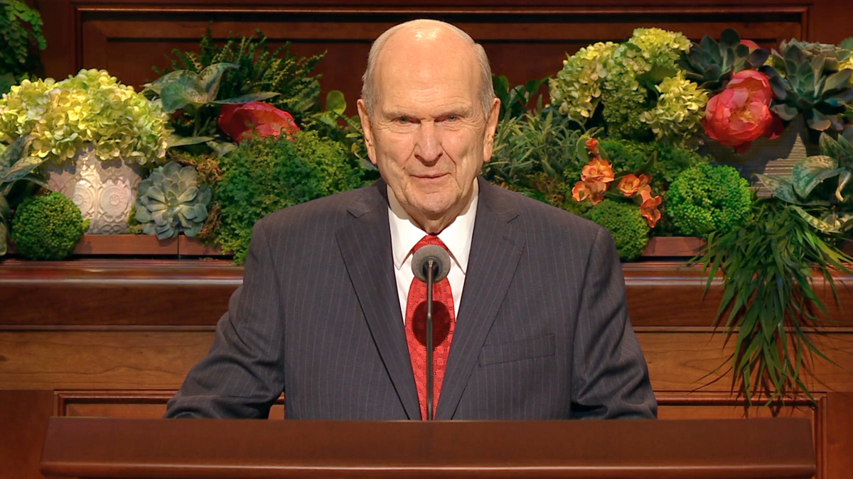 President Nelson at the April 2019 General Conference.