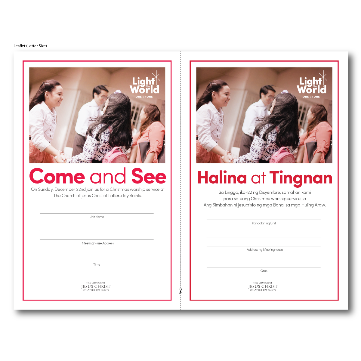 Leaflet for Come and See