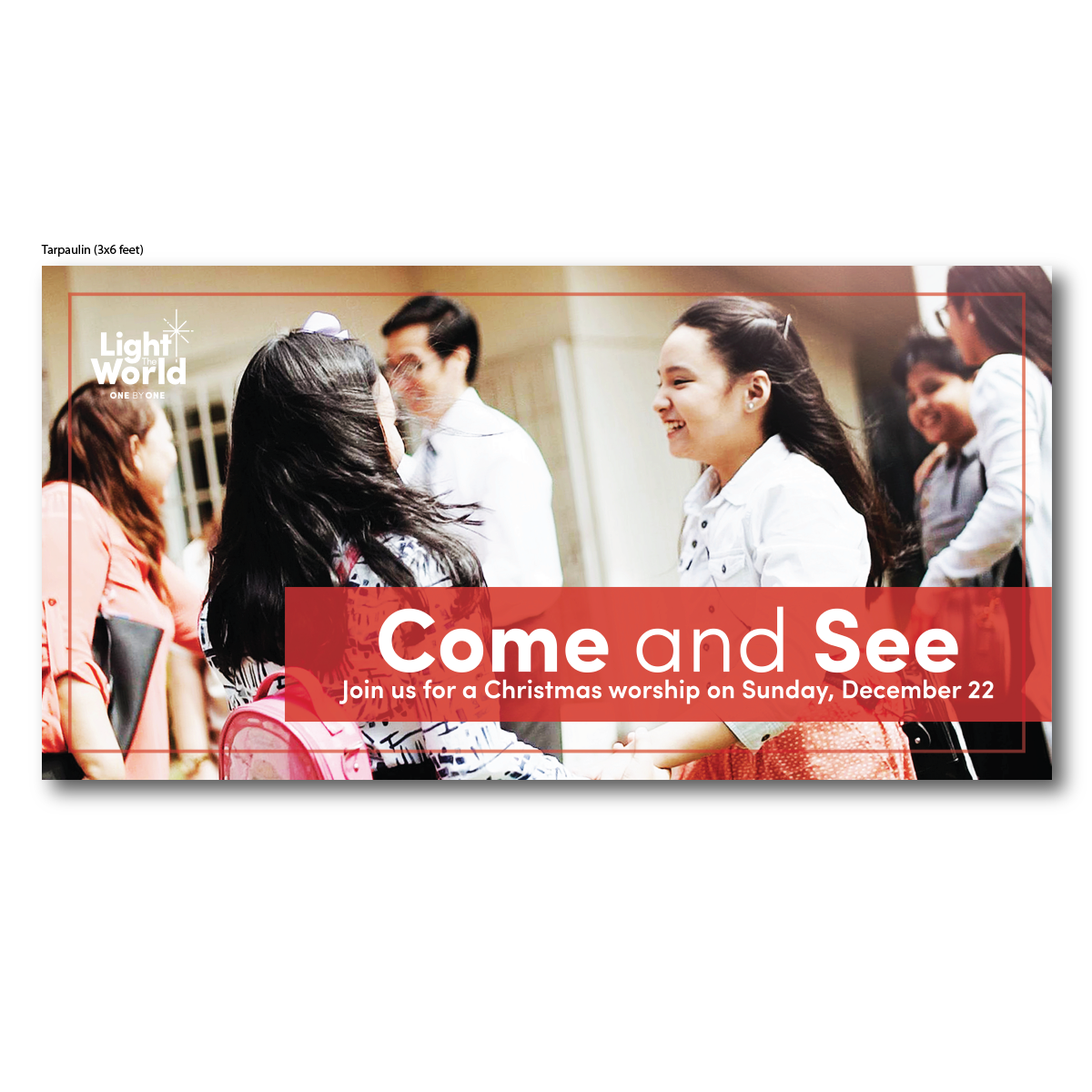 Tarpaulin for Come and See