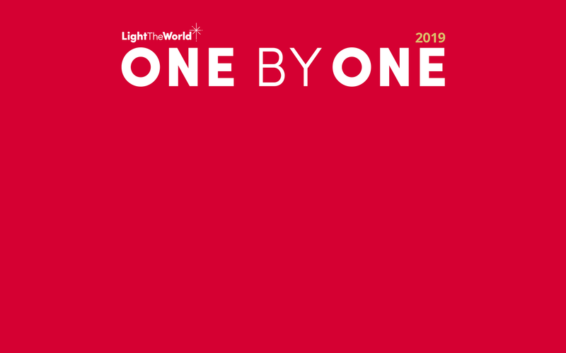 Join Light The World 2019: One by One