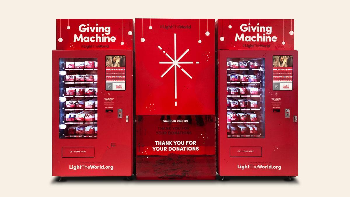 Everybody is welcome to donate items for the needy through the Giving Machine. Let us #LightTheWorld One by One.
