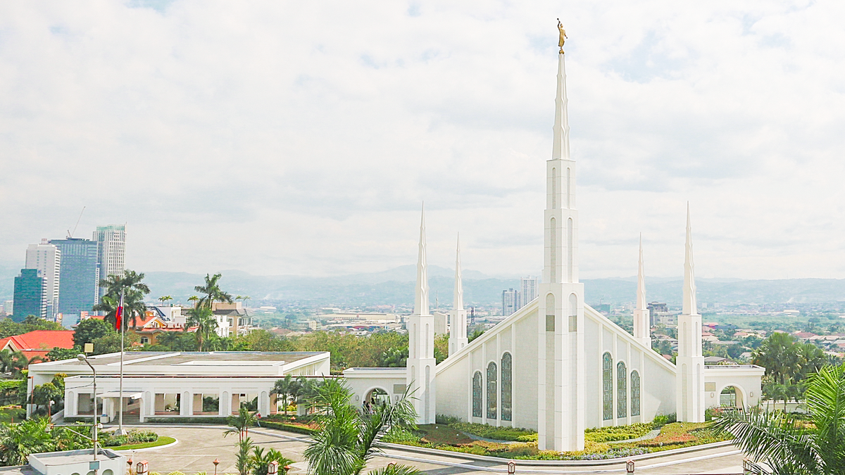 The Manila Philippines Temple of the Church of Jesus Christ of Latter-day Saints, the first temple to be constructed in the Philippines.