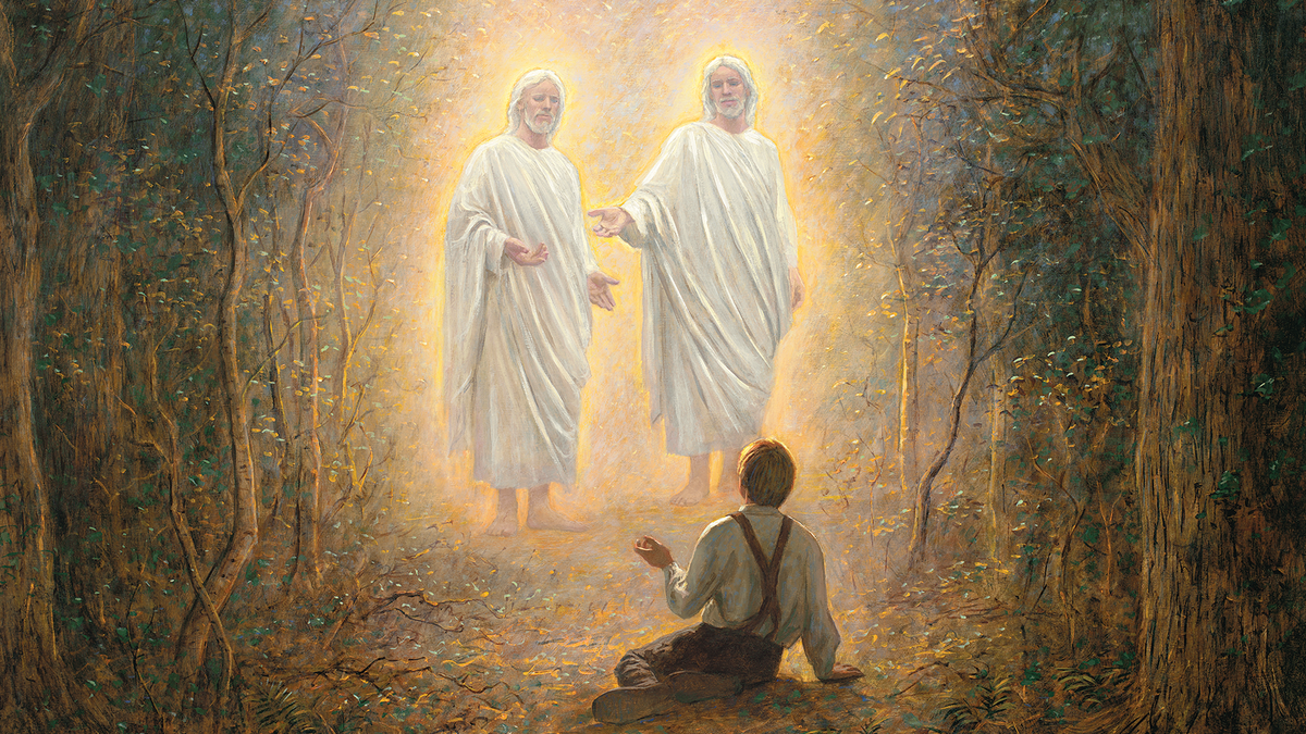 Joseph Smith prayed for guidance towards knowing which Church was the true one. As a result,  God the Father and Jesus appeared and instructed him not to join any of the churches then on the earth. This event became known as the First Vision.