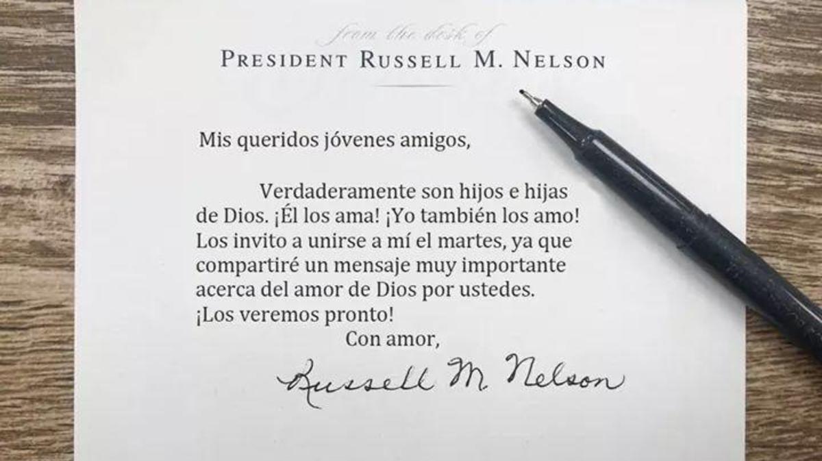 Invitación Pres Nelson