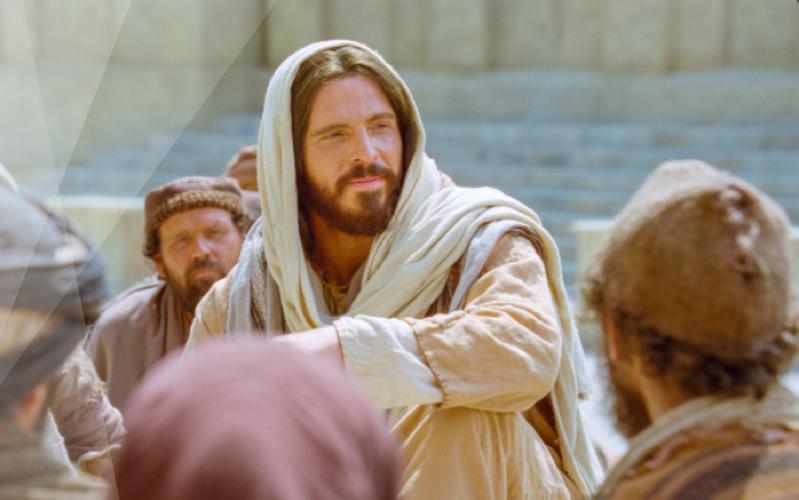 Jesucristo enseñando a Sus discípulos