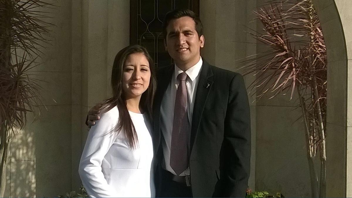 Foto de pareja en el Templo