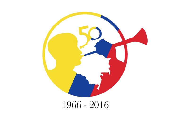 Logo de 50 años de la Iglesia de Jesucristo en Colombia.