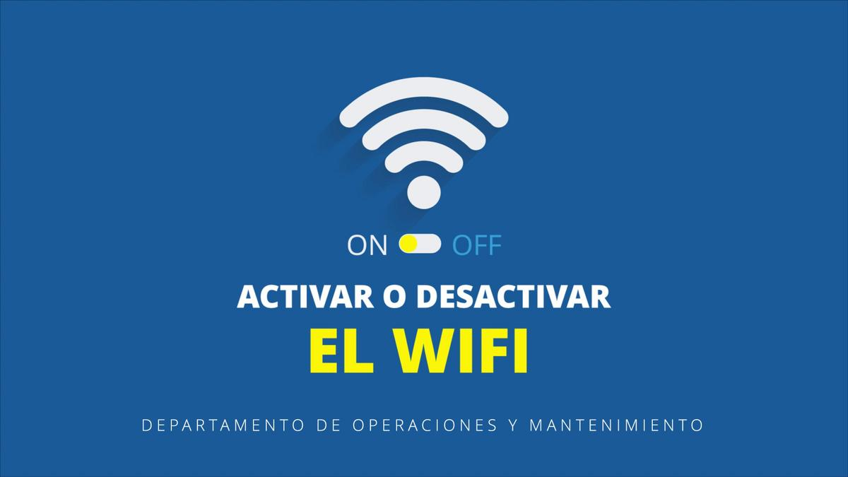 Activar o desactivar el Wifi