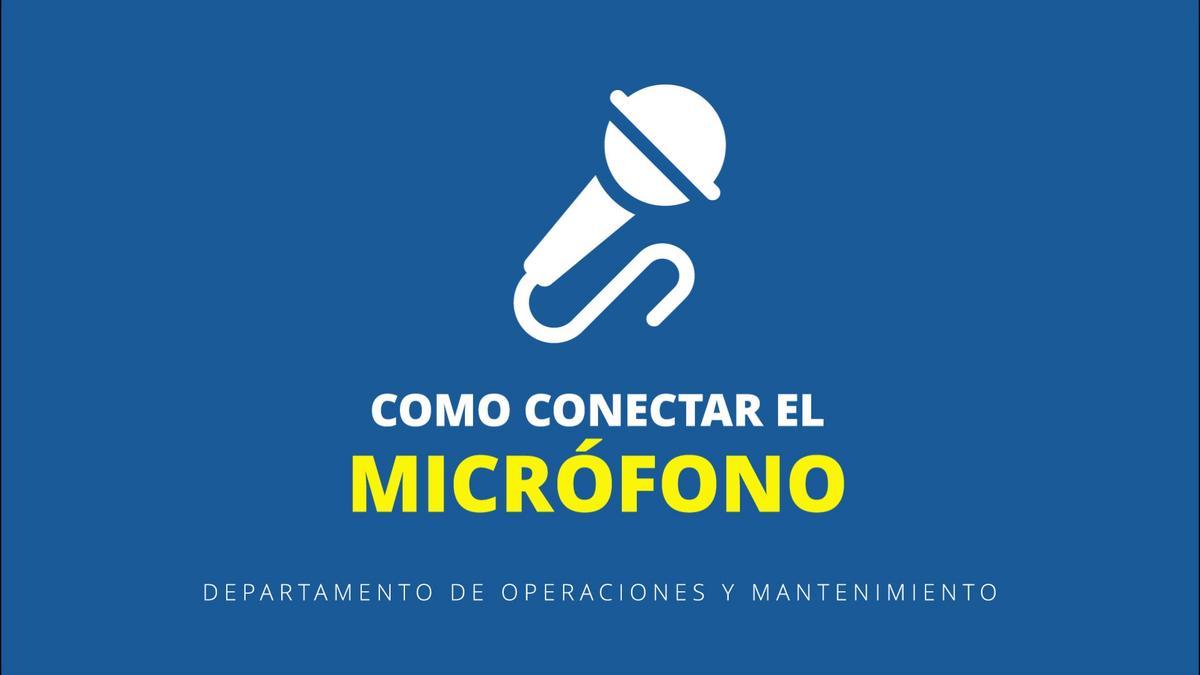 Como conectar el micrófono