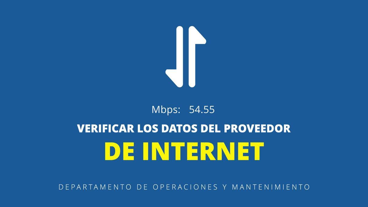Verificar los datos del proveedor de internet