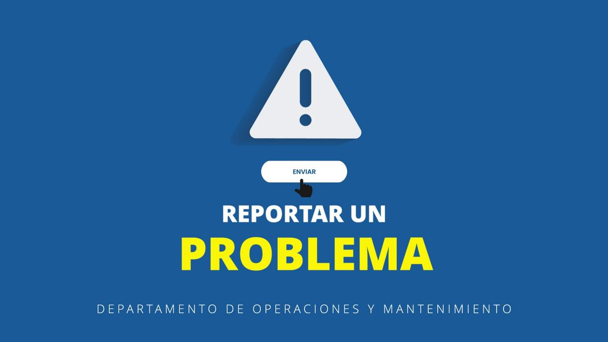 Reportar un problema