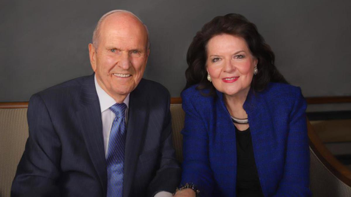 Foto del Presidente Nelson y su esposa Wendy