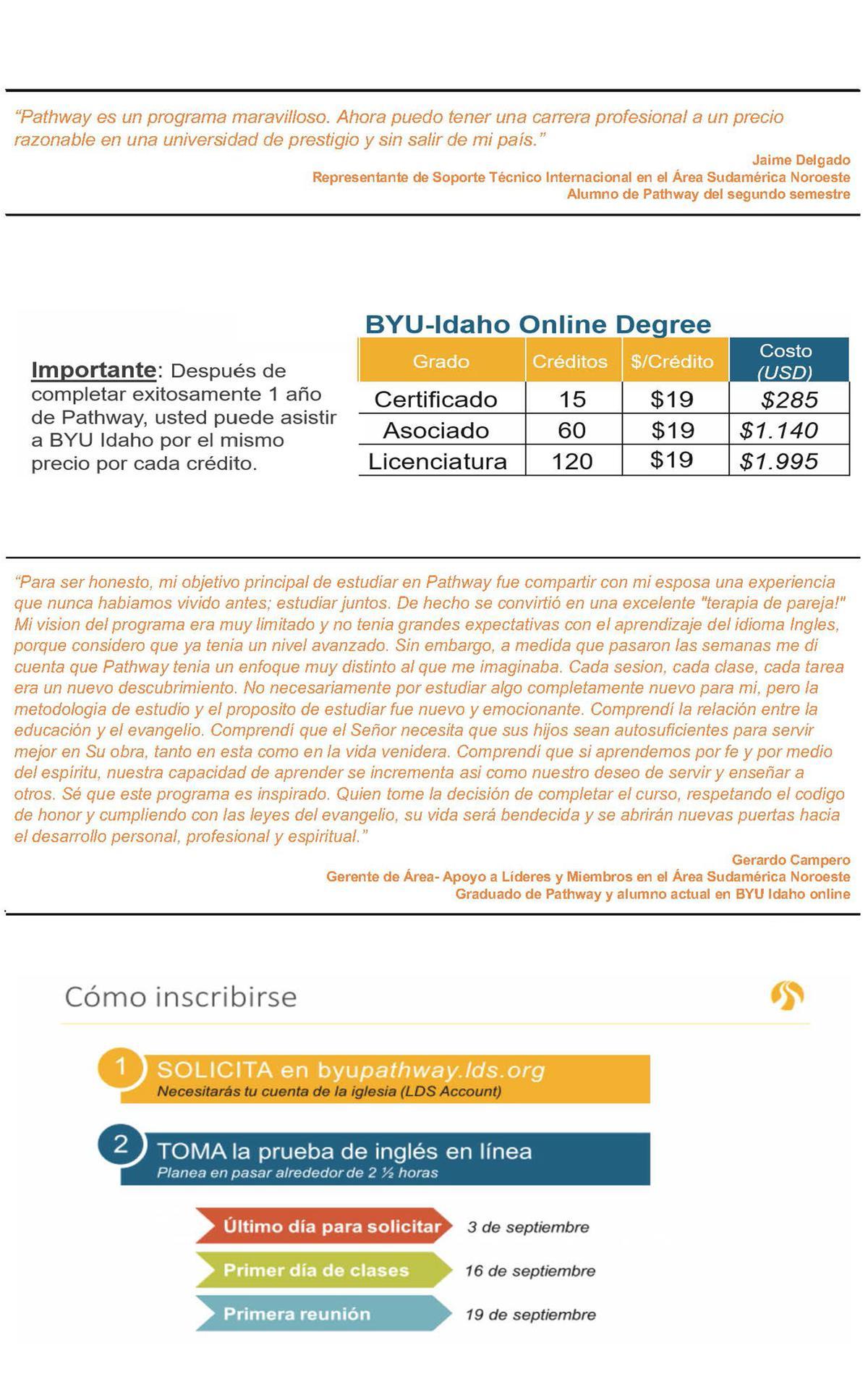 Información del programa BYU-Pathway