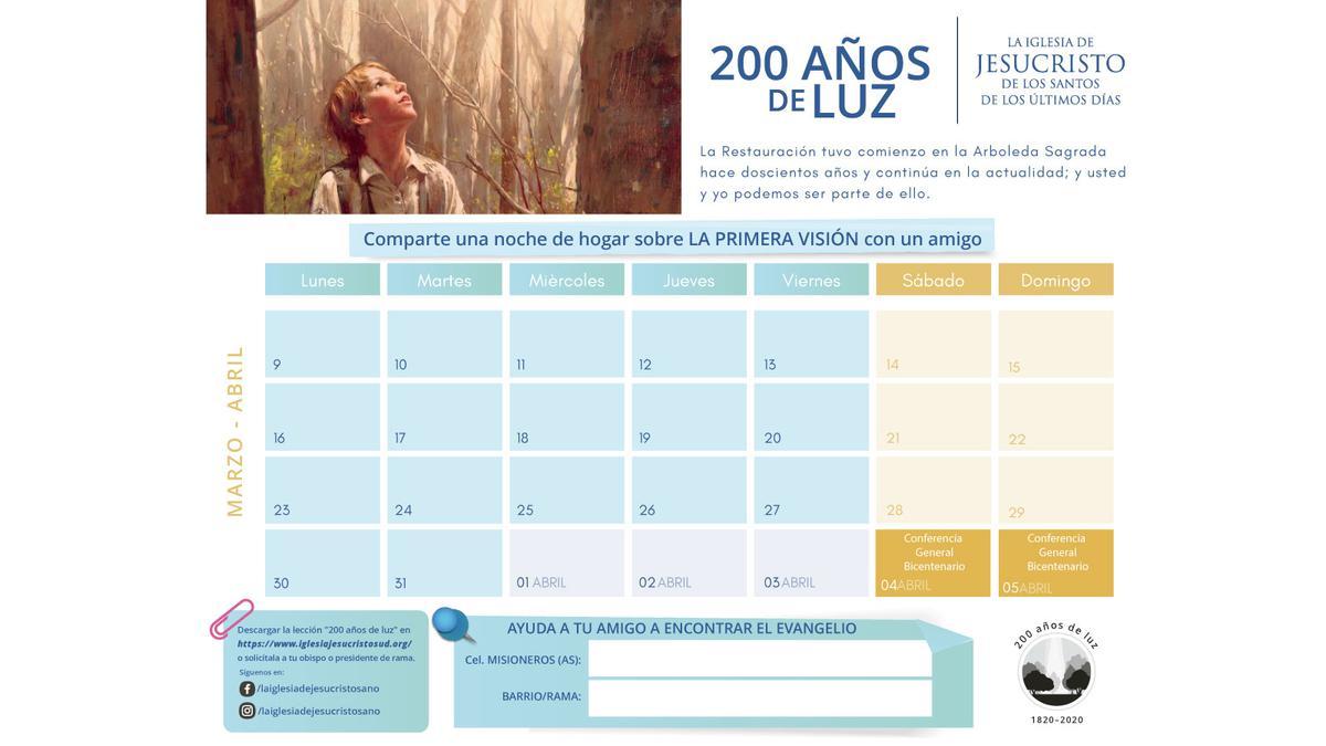 calendario bicentenario