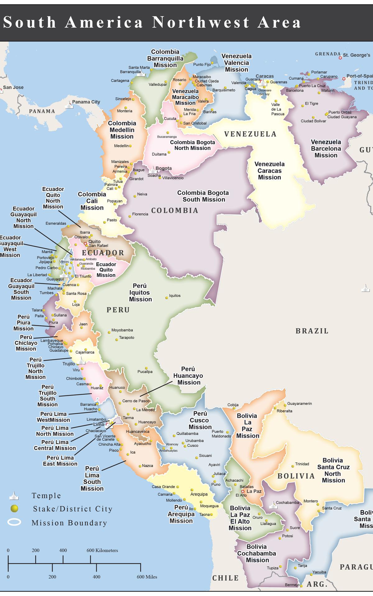 Misiones del área sudamérica noroeste 2019
