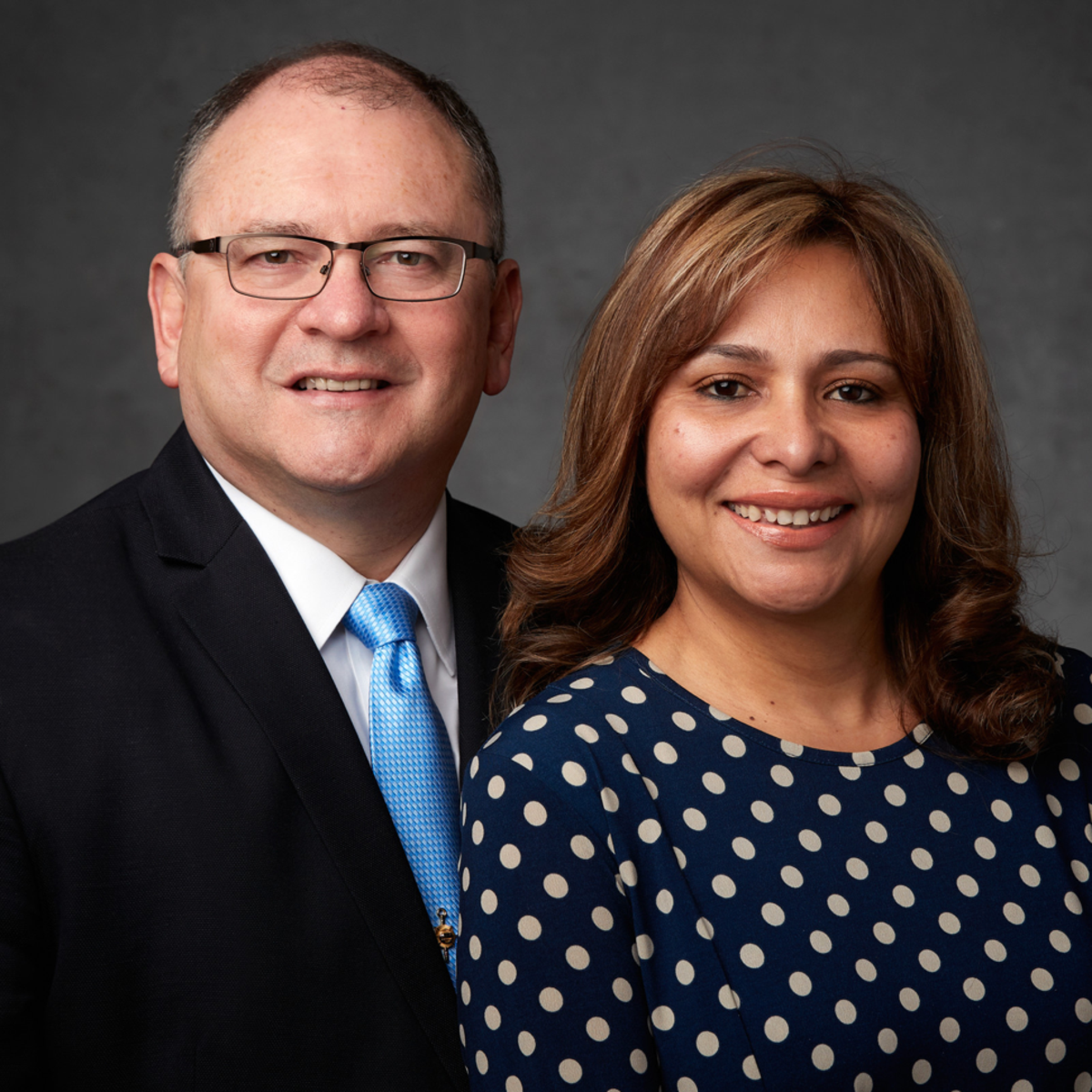 El Presidente Chacon y su esposa de la Misión Ecuador Quito Norte