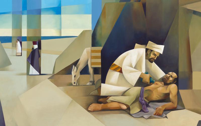 Una representación de la historia del Buen Samaritano